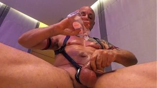 Ozmuscleslammer – Two Big Cock Leather Slams